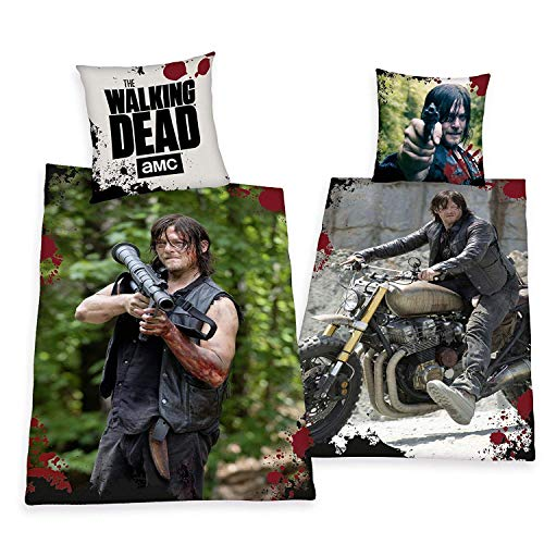 Bettwäsche Herding The Walking Dead Daryl Dixon SONDERMODELL 135 x 200 cm Geschenk NEU - All-In-One-Outlet-24 -