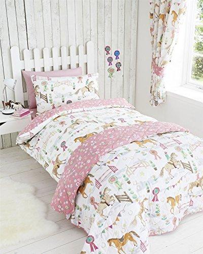 c2f7141eed1168 ... Pferd Design (Einzelbett) (Weiß) Kids Club Mädchen Bettwäsche Pferd  Design (Einzelbett) (Weiß). Bettwäsche Pferd weiß Butterfly 135 x 200 cm 80  ...