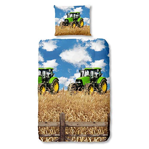 Good Morning 5604 Farmer Traktor Bunt, 135 x 200 + 80 x 80