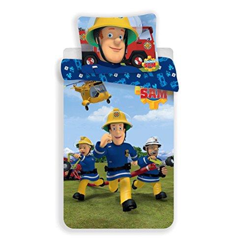 Bettwäsche Biber Feuerwehr Polizei 135 x 200; 80 x 80 100/% Baumwolle kids love