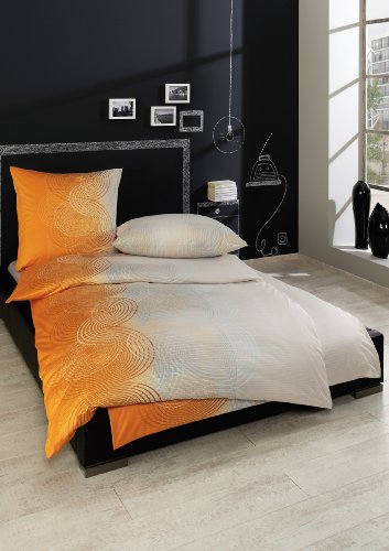 Interlock-Jersey-Bettwäsc he Giulio orange 155X220 CM