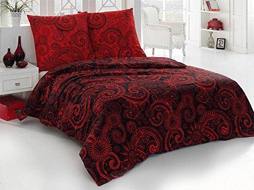 rote bettw sche rot. Black Bedroom Furniture Sets. Home Design Ideas