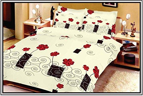 rosen bettw sche mit rosendruck. Black Bedroom Furniture Sets. Home Design Ideas