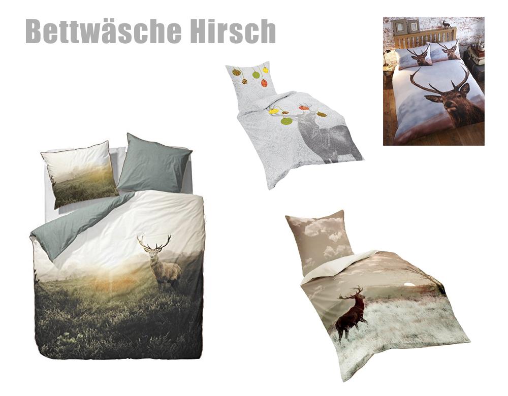 hirsch bettw sche z b mit hirschgeweih. Black Bedroom Furniture Sets. Home Design Ideas