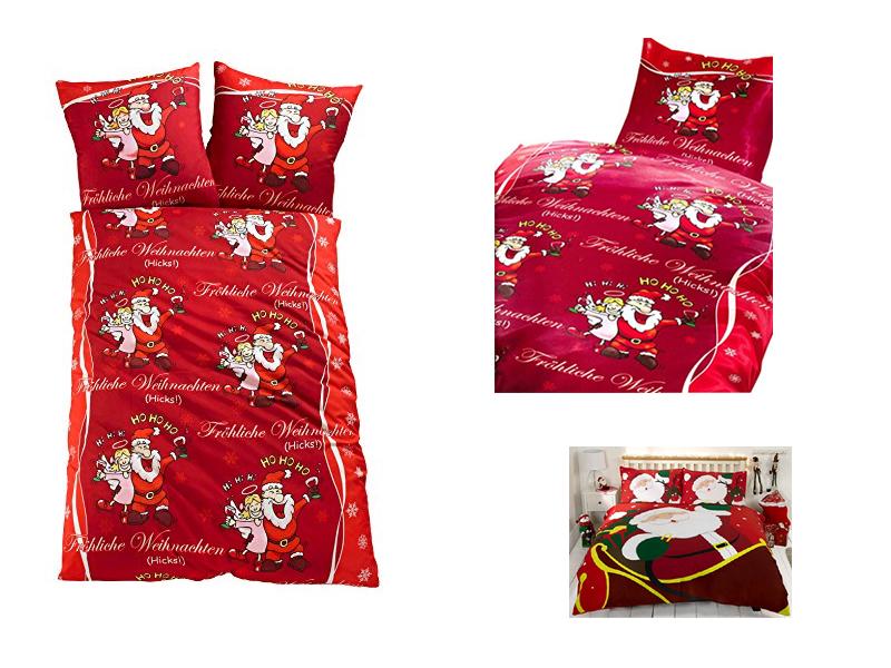 Schlafzimmer schlafzimmer rot blau : Weihnachtsmotiv Bettwäsche - Weihnachten im Schlafzimmer :-)